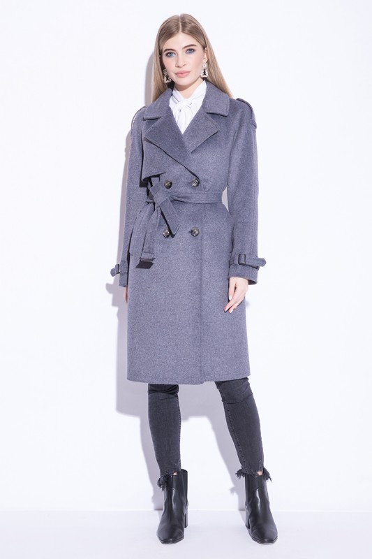 Пальто Electrastyle Фиолетово-Серый