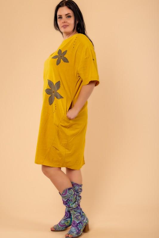 Платья New Color Горчица